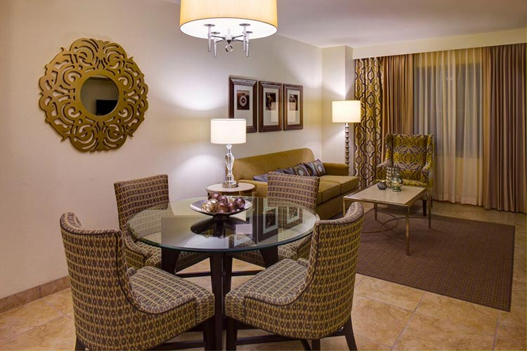 guest suite dining room and living room area, The Grandview at Las Vegas