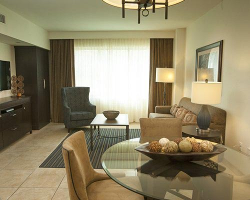 guest suite living room and dining room area, The Grandview at Las Vegas