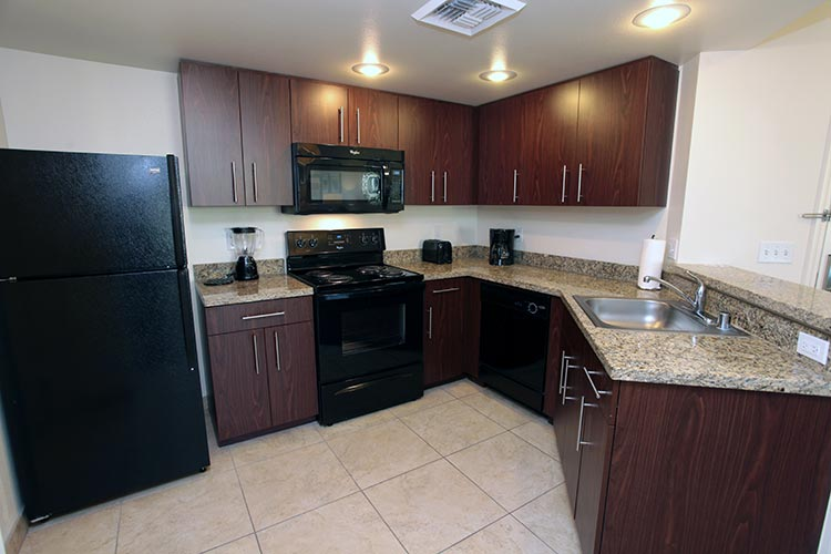 guest suite full kitchen with granite counter tops, The Grandview at Las Vegas