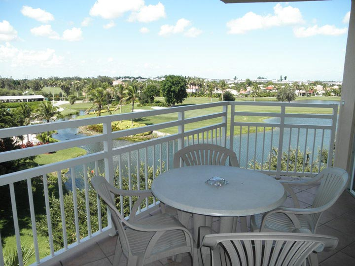 furnished balcony in A Suites, Vacation Village at Bonaventure