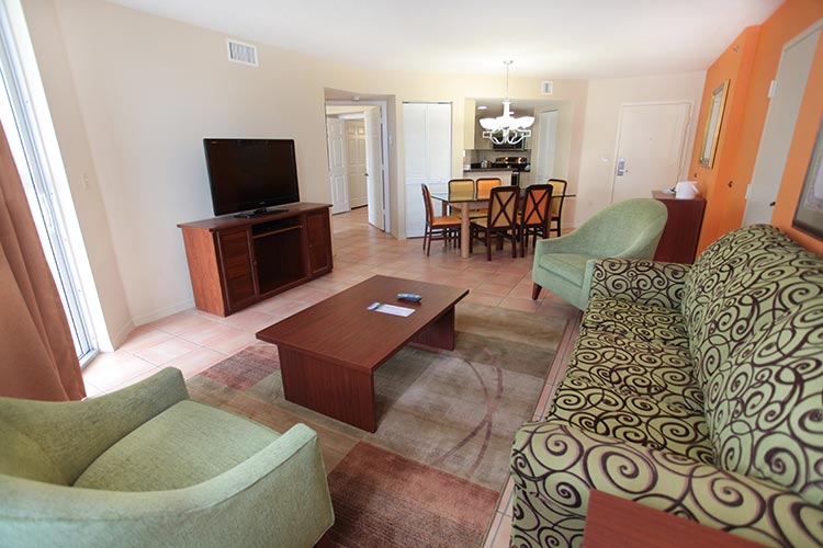 A Suite guest living room, Vacation Village at Bonaventure