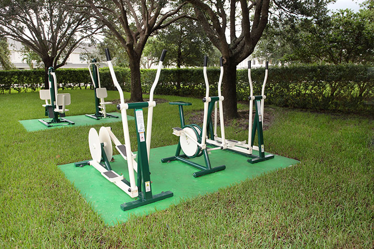 outdoor fitness equipment, Vacation Village at Weston