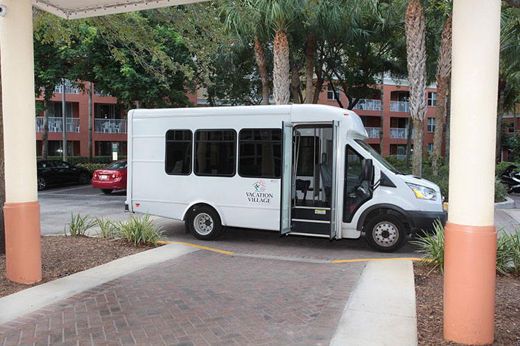 complimentary shuttle service offering transportation to local areas within a 3 mile radius, Vacation Village at Weston